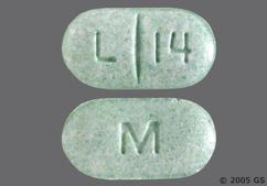 Green Oblong Tablet M And L 14 - Levothyroxine Sodium 300mcg Tablet
