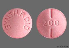 Pink Round Tablet 200 And Synthroid - Synthroid 200mcg Tablet