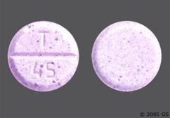 Purple Round Tablet T 45 - Clorazepate Dipotassium 3.75mg Tablet