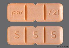 Peach Rectangular Tablet 5 5 5 And Par 721 - Buspirone Hydrochloride 15mg Tablet