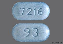 Blue Oblong Tablet 93 And 7216 - Metolazone 5mg Tablet