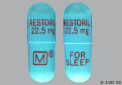 Blue Capsule Restoril 22.5 Mg For Sleep M - Restoril 22.5mg Capsule