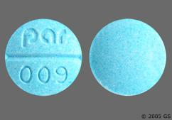 Blue Round Tablet Par 009 - Isosorbide Dinitrate 30mg Tablet