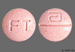 Pink Round Tablet Logo And Ft - Mavik 1mg Tablet