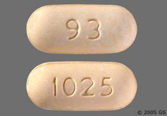 Yellow Oblong Tablet 1025 And 93 - Nefazodone Hydrochloride 200mg Tablet