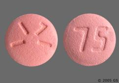 Pink Round Tablet 75 And 1171 - Plavix 75mg Tablet
