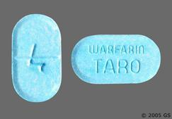 Blue Oblong Tablet Warfarin Taro And 4 - Warfarin Sodium 4mg Tablet