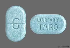 Blue-Green Oblong Tablet Warfarin Taro And 6 - Warfarin Sodium 6mg Tablet