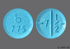 Blue Round Tablet B 775 And 7 1/2 - Amphetamine/Dextroamphetamine Salts 7.5mg Tablet