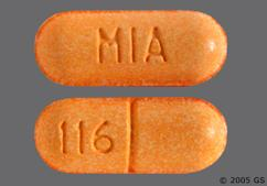 Yellow-Orange Oblong Tablet Mia And 116 - Hydrocodone Bitartrate/Acetaminophen 7.5mg-325mg Tablet