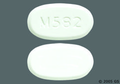 White Oval Tablet M582 - Oxycodone Hydrochloride/Acetaminophen 7.5mg-500mg Tablet