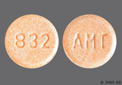 Peach Round Tablet 832 And Amt - Amantadine Hydrochloride 100mg Tablet