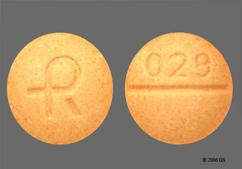 Peach Round Tablet Logo And 029 - Alprazolam 0.5mg Tablet
