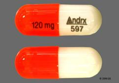 Orange And White Capsule 120 Mg Andrx 597 - Cartia XT 120mg Extended-Release Capsule