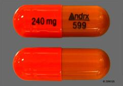 Brown And Orange Capsule 240 Mg Andrx 599 - Cartia XT 240mg Extended-Release Capsule