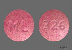 Pink Round Tablet Ml And 326 - FaBB 1mg-2.2mg-25mg Tablet