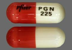 Orange And White Capsule Pfizer Pgn 225 - Lyrica 225mg Capsule