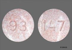 Red Round Tablet 147 And 93 - Naproxen 250mg Tablet