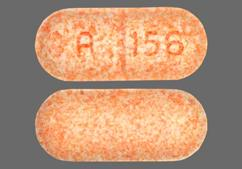 Orange Oblong Tablet A 156 - Hyoscyamine Sulfate 0.375mg Extended-Release Tablet
