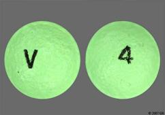 Green Round Tablet 4 And V - Albuterol Sulfate 4mg Extended-Release Tablet