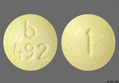 Yellow Round Tablet 1 And B 492 - Alprazolam 1mg Extended-Release Tablet