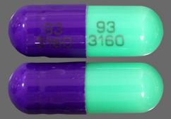 Green And Purple 93 3160 93 3160 - Cefdinir 300mg Capsule