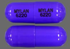 Purple Capsule Mylan 6220 Mylan 6220 - Propranolol Hydrochloride 120mg Extended-Release Capsule