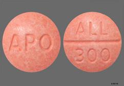 Orange Round Apo And All 300 - Allopurinol 300mg Tablet