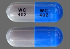 Blue And Gray Capsule Wc 402 Wc 402 - Ampicillin 250mg Capsule