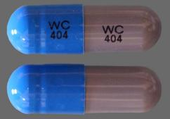 Blue And Gray Capsule Wc 404 - Ampicillin 500mg Capsule