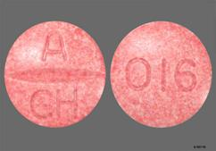 Pink Round Tablet A Ch And 016 - Atacand 16mg Tablet