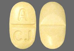 Yellow Oval Tablet 322 And A Cj - Atacand HCT 32mg-12.5mg Tablet