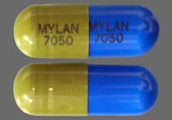 Blue And Green Capsule Mylan 7050 Mylan 7050 - Loxapine Succinate 50mg Capsule