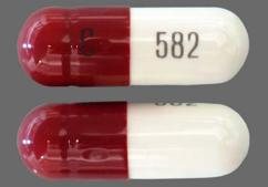 Brown And White Capsule Barr 582 And C 582 - Cefadroxil 500mg Capsule