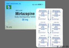 White Round Tablet B 242 - Mirtazapine 30mg Orally Disintegrating Tablet
