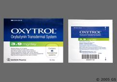 Colorless Rectangular Oxytrol 3.9 Mg/Day - Oxytrol 3.9mg/24hr Transdermal Patch
