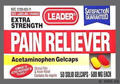 red and yellow - Leader Pain Reliever 500mg Gelcap