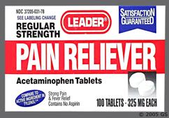 white round - Leader Pain Reliever Tablet