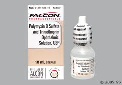 Polymyxin B/Trimethoprim Coupon - Polymyxin B/Trimethoprim 10ml of 10000units/1mg/ml eye dropper