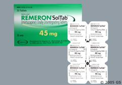 White Round Orally Disintegrating Tab Tz 4 - Remeron Soltab 45mg Orally Disintegrating Tablet