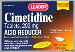 white oval - Leader Cimetidine 200mg Tablet