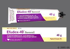 white - Efudex 5% Topical Cream