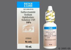 Sulfacetamide Coupon - Sulfacetamide 15ml of 10% eye dropper