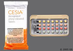Green Round Package Organon And Rh 35 - Cesia 28-Day Tablet