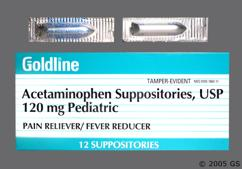 white bullet suppository - Acetaminophen 120mg Rectal Suppository
