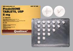 White Round Dose Pack 50 94 And V - Prednisone 5mg Tablet