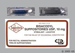 white bullet - Bisacodyl 10mg Rectal Suppository