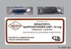 white bullet - Bisacodyl 10mg Rectal Suppository