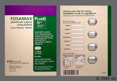 Fosamax Plus D Coupon - Fosamax Plus D 4 tablets of 70mg/2800iu dose pack