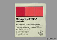 Beige Square Carton Bi 31 - Catapres TTS-1 Transdermal System